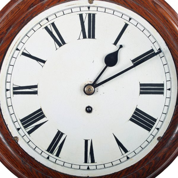 Antique Wall Clock W H Sch Wall Clock Victorian Oak Wall Clock
