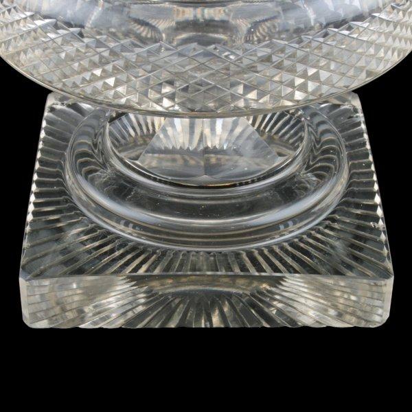 Antique Glass Vase Victorian Cut Crystal Vase