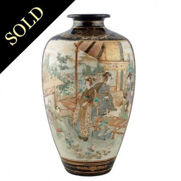 Antique Satsuma Vase Antique Japanese Vase Japanese Satsuma Vase