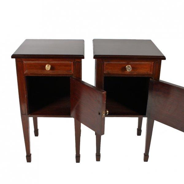 ... Pair of Edwardian Mahogany Bedside Cabinets ... - Antique Bedside Cabinets Edwardian Mahogany Bedside Cabinets