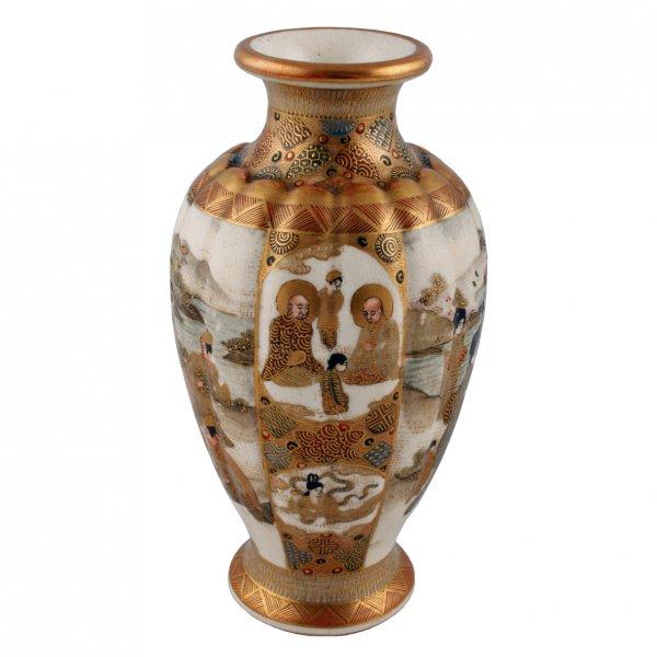 Satsuma Pottery Vase Antique Japanese Vase Antique Satsuma Vase