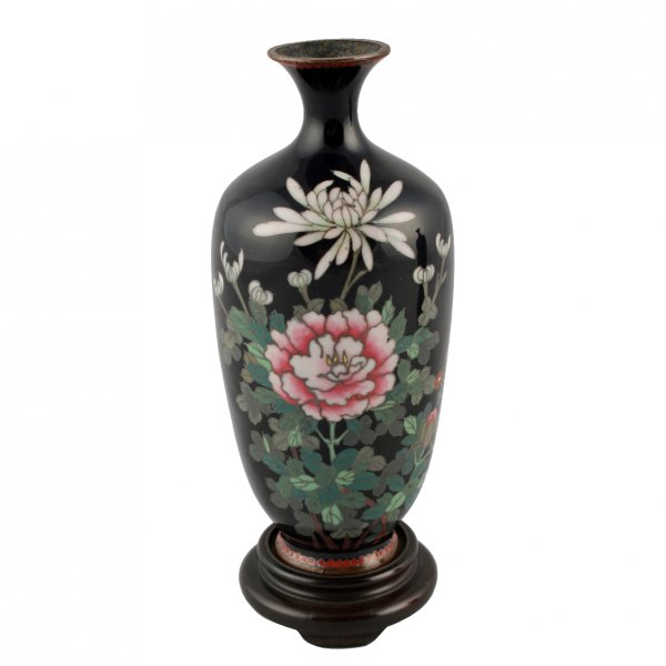 Antique Cloisonne Vases Japanese Cloisonne Enamel Vases