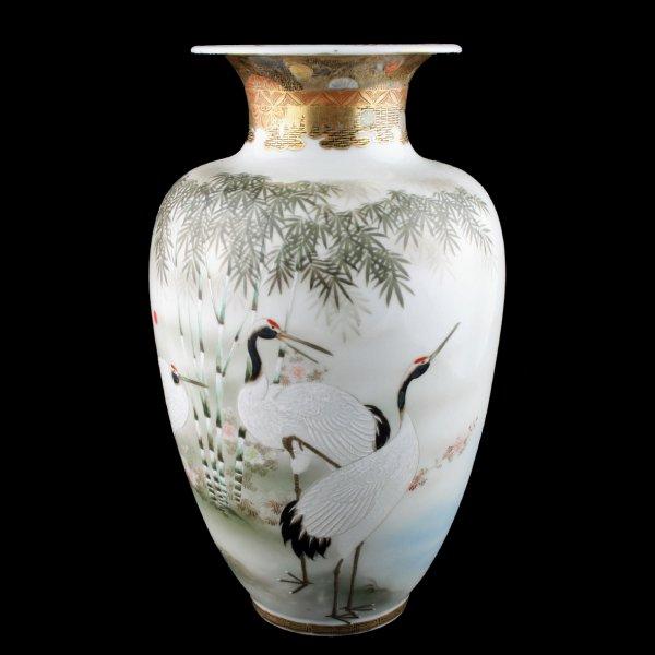 Antique Japanese Vases Pair Of Kutani Vases Japanese Vase