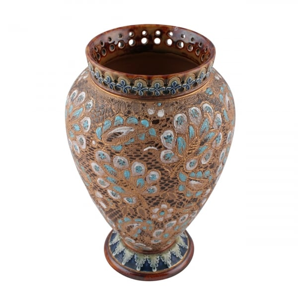 Pair Of Doulton Vases Salters Patent Vases