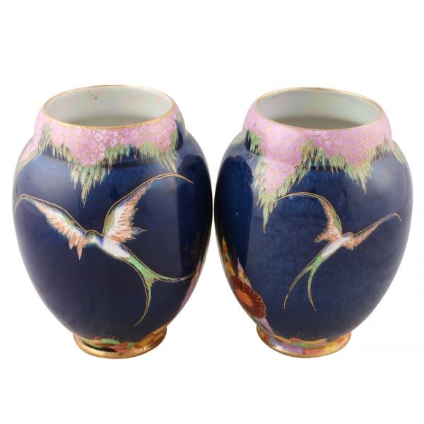 Pair Of Carlton Ware Vases Fantasia Design Vases