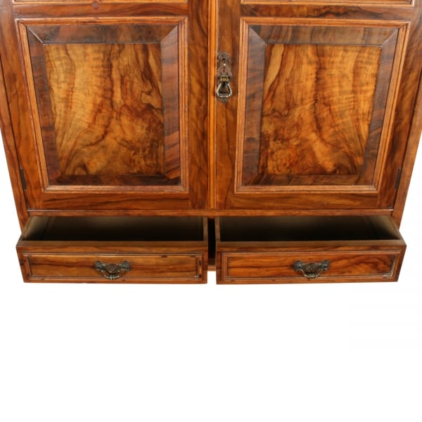 Victorian Olive Wood Wall Cabinet