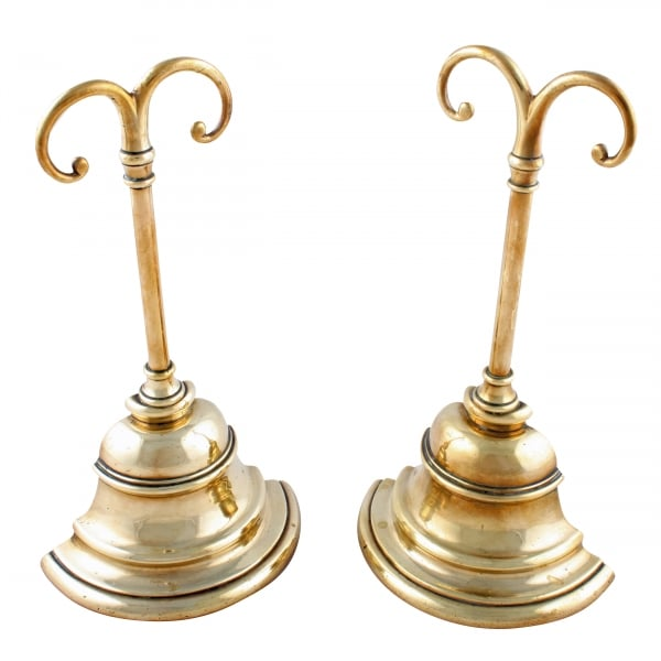 ... Pair of Brass Door Stops ... - Pair Of Antique Door Stops Victorian Brass Door Stops