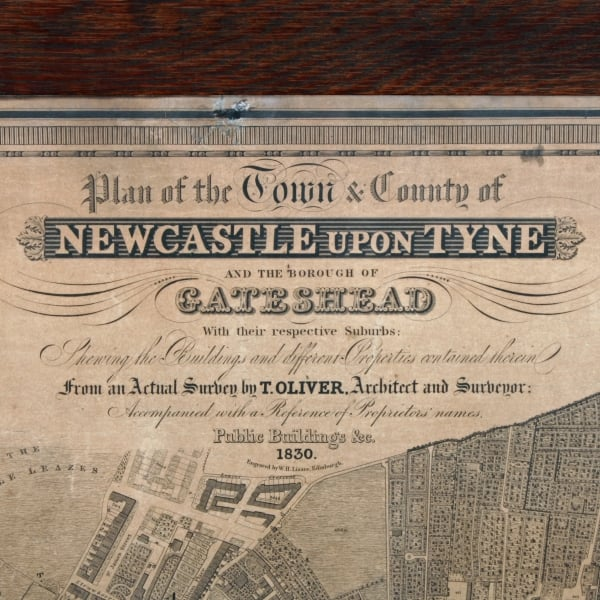 Antique Map Of Newcastle Large Newcastle Map