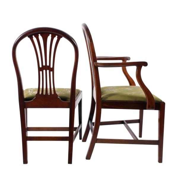 ... Set Of Eight Hepplewhite Style Chairs ...