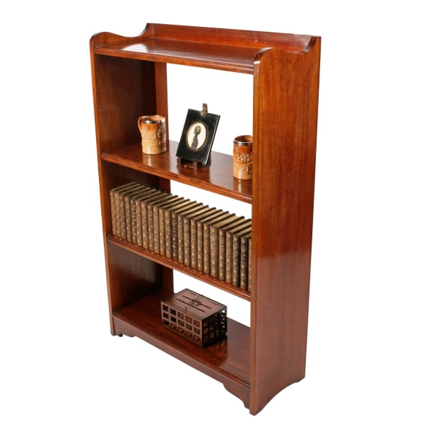edwardian mahogany open bookshelves edwardian mahogany open bookshelves - Mahogany Bookshelves