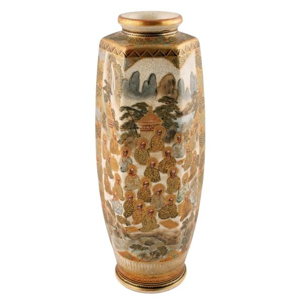 Antique Japanese Vase Satsuma Pottery Vase