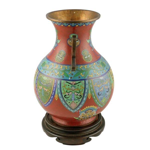 Antique Cloisonn Vase Japanese Cloisonn Enamel Vase