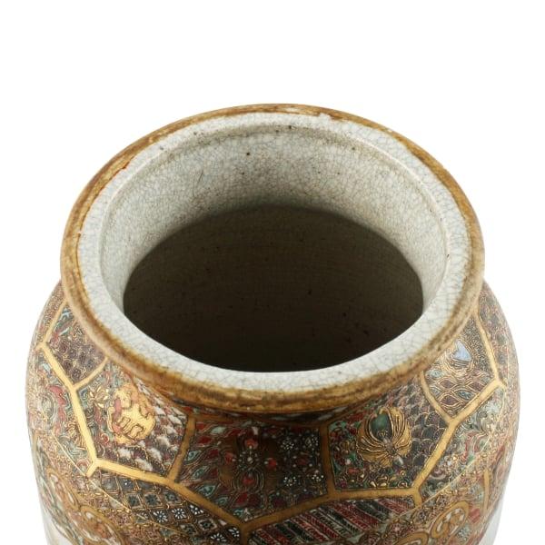 Antique Japanese Vase Satsuma Pottery Vase Meiji Pottery
