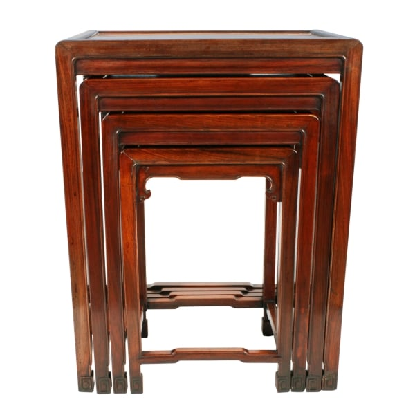 Antique nest of tables nest of chinese rosewood tables nest of four chinese rosewood tables watchthetrailerfo