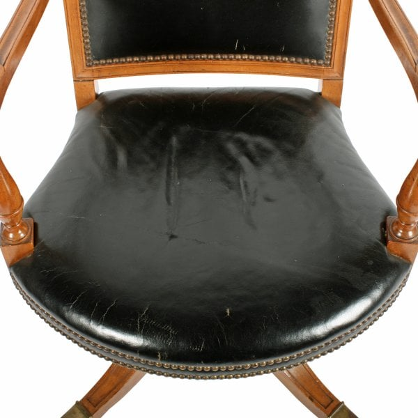 mahogany desk chair leather desk arm chair