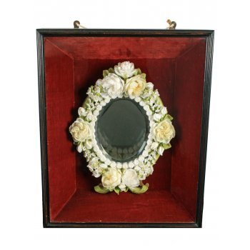 Unusual Framed Wax Mirror