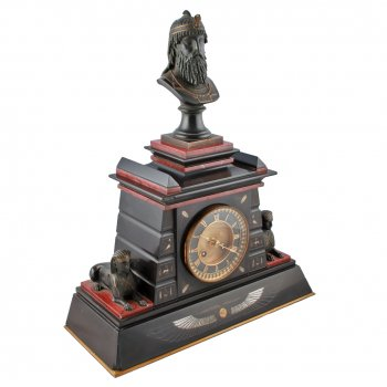 Victorian Marble & Bronze Clock by Japy Frères