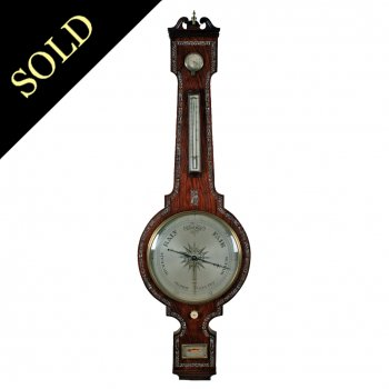 Large Rosewood Barometer & Thermometer