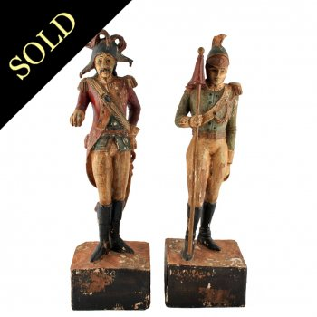 Carved Wood Polychrome Figures