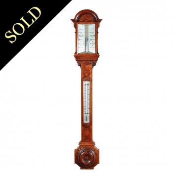 Victorian Oak Stick Barometer