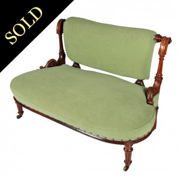 Victorian Rosewood Two Seat Settee