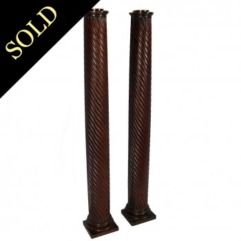 Pair of Georgian Mahogany Columns