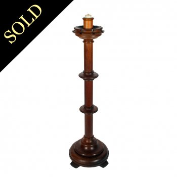 Large Gothic Oak Candle Stand