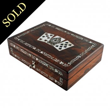 Rosewood & Mother of Pearl Games Box