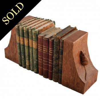 'Mousey' Thompson Oak Bookends
