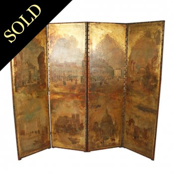 Victorian Scenes of London Four Fold Screen