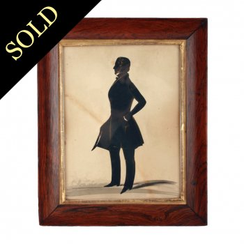 Victorian Silhouette of a Gentleman