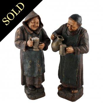 Pair of Goldscheider Terracotta Figures