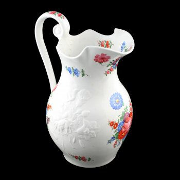 Victorian Hand Painted Porcelain Ewer