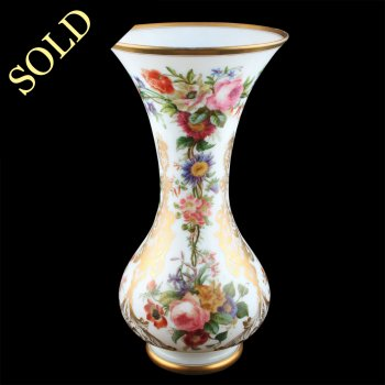Impressive Victorian Opaque Glass Vase