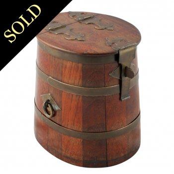 Model of a Navy Rum Barrel