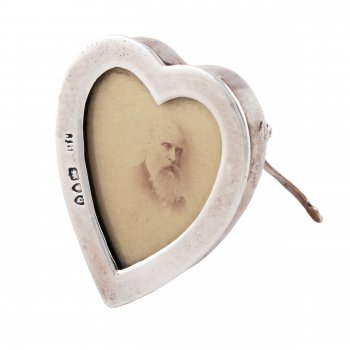 Antique Silver Photo Frame Heart Shaped Silver Frame