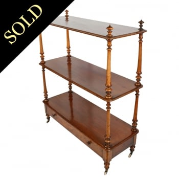 Victorian Three Tier Walnut Buffet