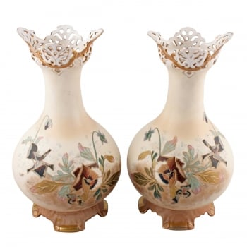Pair of Porcelain Vases