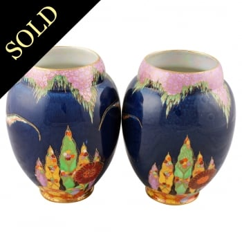 Pair of Carlton ware 'Fantasia' Vases