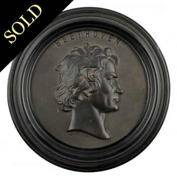 Bois Durci Medallion of Beethoven