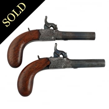 Pair of Percussion Cap Pocket Pistols