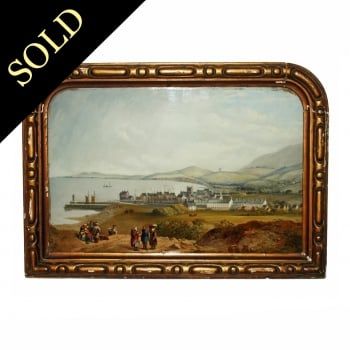 Victorian Framed Reverse Painting
