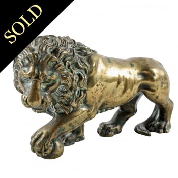 Gilt Brass Grand Tour Lion