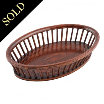 Edwardian Mahogany Bread Basket