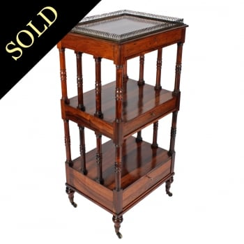 Fine Regency Rosewood Whatnot