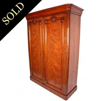 Victorian Two Door Mahogany Wardrobe