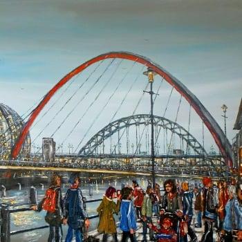 Millenium Bridge And The Sage Newcastle Upon Tyne
