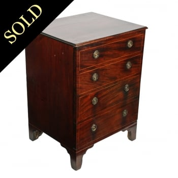 Converted Georgian Mahogany Commode