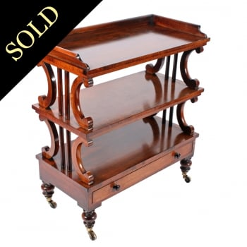 Early Victorian Rosewood Étagère