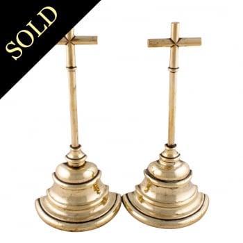 Pair of Brass Door Stops
